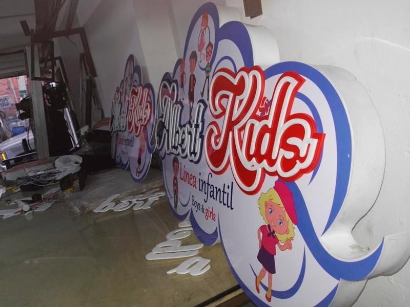 Avisos publicitarios 3d - letras cantonera 3D